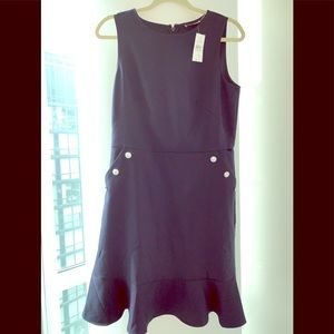 Navy LOFT sailor dress